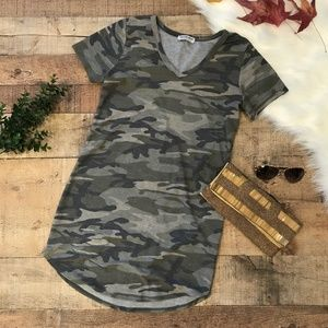 Fashion Nova Camoflage V-Neck Mini Dress EUC